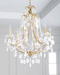 white quartz chandelier