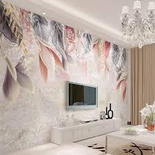 <b>Custom</b> Wallpaper Vintage <b>Hand Painted</b> Flowers <b>Nordic</b> Minimalist ...
