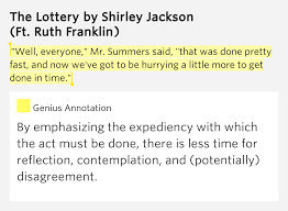 essay on the lottery by shirley jackson the lottery by shirley  shirley jackson lottery essay 91 121 113 106 shirley jackson lottery essay
