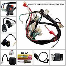 atomik 110cc quad wiring diagram atomik image full motorcycle electrics wiring harness loom solenoid coil 150cc on atomik 110cc quad wiring diagram
