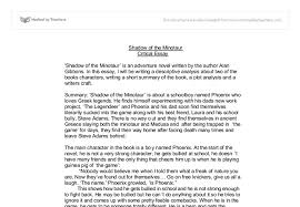 shadow of the minotaur essay gcse english marked by teachers com document image preview