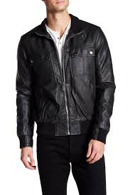 image of nautica faux leather jacket