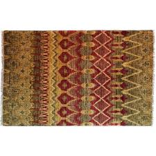 solo rugs one of a kind ikat hand knotted multicolor area rug perigold multi color area