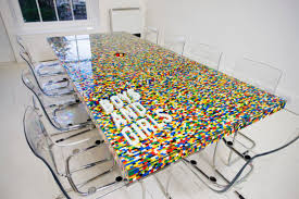 this lego table consists of 22,742 pieces clicked together with traditional  lego construction techniques. No Table Top