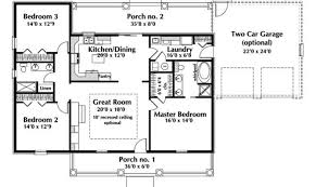 level ranch style house plans