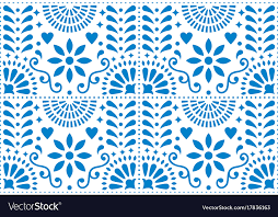 Mexican Pattern Delectable Folk Art Seamless Pattern Mexican Blue Royalty Free Vector