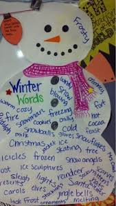 Chart On Winter Season Winter Words Anchor Chart Great Chart To Make With Students