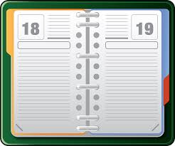 office agenda organizer datebook diary free vector graphic on pixabay