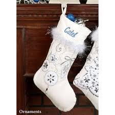 velvet christmas stockings. Simple Stockings White Velvet Ornament Stocking Throughout Christmas Stockings S