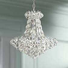 pricilla 19 wide chrome and clear crystal chandelier