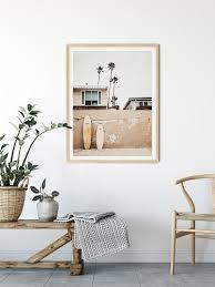 boho surf print printable wall art
