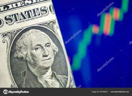 Concept Growth Dollar Exchange Rate One Dollar Blue Chart