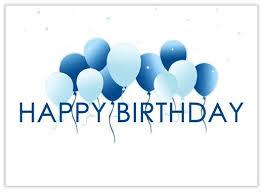 Happy Birthday Business Card Floating Balloons Cumpleanos Birthday Best Happy