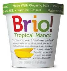 brio ice cream tropical mango nutrition facts
