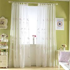 Bedroom Contemporary Drapes Thick White Curtains Window Topper Ideas ...