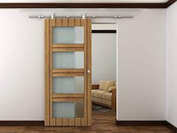 sli stainless steel barn door hardware set 8 feet model with fast install design