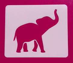 Baby Elephant Template Baby Elephant Stencil Elephant Mylar Stencil Baby Elephant Etsy