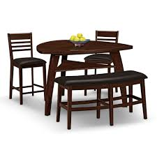 Triangular Kitchen Table Sets Furniture Black Brown Triangle Dining Table With Benches And