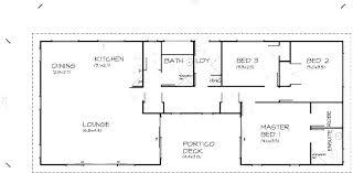 3 Bedroom Open Floor House Plans Custom Ideas