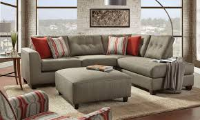 Fusion Handmade American Chaise Sectional Sofa with Ottom