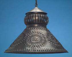 punched tin lighting fixtures. antique tin punched light shades hammerworks hanging sh101 lighting fixtures q
