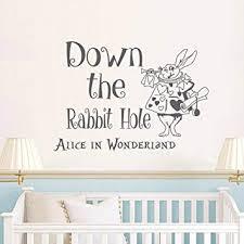 Alice Im Wunderland Mauer Aufkleber Applikator Ist Der Hase Loch