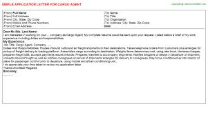 Cargo Agent Application Letters