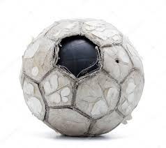 Старый <b>Футбольный Мяч</b> Изолированные Белом Фоне ...