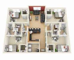 Small Picture 50 Four 4 Bedroom ApartmentHouse Plans Bedroom apartment