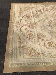 3 of 12 antique vintage old handmade french design wool original aubusson rug 11 x 8