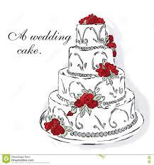 Beautiful Wedding Cake Stock Vector Illustration Of Wedding 78496273