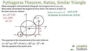 ratios similar triangle circles applied pythagoras theorem an exam question you