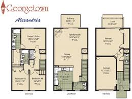townhouse floor plans. Trendy Ideas 1 Three Story Townhouse Floor Plans Georgetown Townhome Community In Jacksonville Florida