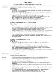Software Engineer Cloud Resume Samples Velvet Jobs