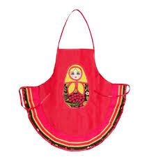 Фартук детский <b>Art East</b>, <b>Матрешка</b>, 51 см, красный — купить в ...