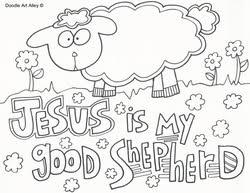 Good Shepherd Coloring Pages Religious Doodles Good Shepherd