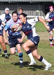leading seaman kerryn seaborn of the royal australian navy women s rugby union team blue