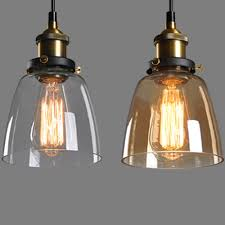 cheap vintage lighting. Hot Font B Clear Amber Glass Shade Ceiling Chandelier Vintage Cheap Lighting
