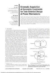 Mechanism Design Erdman Pdf Pdf Kinematic Acquisition Of Geometric Constraints For Task