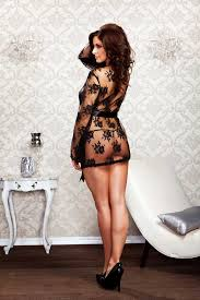 Sexy Bedroom Lingerie Sheer Lace Butterfly Sleeves Long