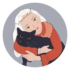 卡通头像抱着猫图片,卡通头像抱着猫大全- QQ酷族