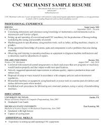 Cnc Machinist Resume Cnc Machinist Resume Mkmafo Sample Resume