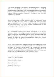 Sample Resume Cover Letter For College Students Refrence College