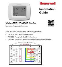 visionpro 8000 aux or em heat override doityourself com moving orange to r and white to w would operate your system conventionally option 300 must be set to 1 to allow autochangeover