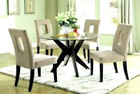glass top dining table round kitchen and chairs small large size of driscol t
