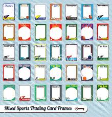 free trading card template free trading card templates mixed sports trading cards vector