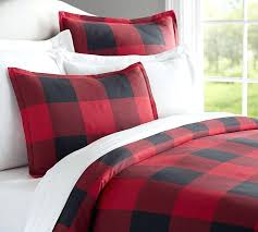 red black bedding buffalo check duvet cover sham red black pottery barn within navy and inspirations red black bedding