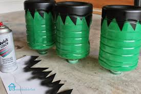 Water Bottles To Decorate Remodelando la Casa Frankenstein Decorations for Halloween 54