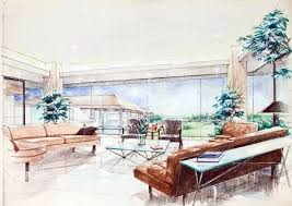 interior design color sketches. Contemporary Interior Interior Sketch By Color Pencil Free Hand Of A Living Room Stock  Photo  10373200 With Interior Design Color Sketches R