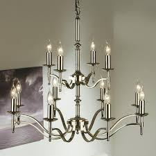 interiors 1900 stanford 12 light chandelier polished nickel ca1p12n from easy lighting